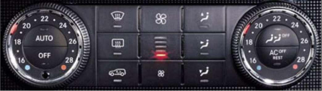 3.11.2 Автоматизированная климатическая установка Mercedes-Benz W164 (ML Class)