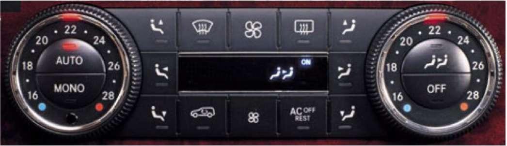 3.11.3 Комфортная климатическая установка Thermotronic (SA 581) Mercedes-Benz W164 (ML Class)