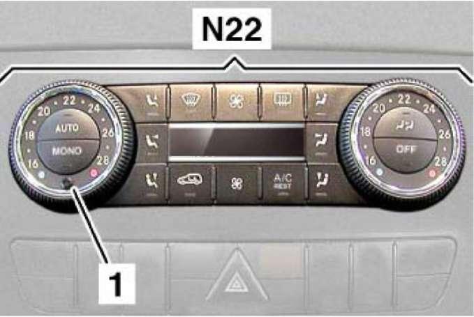 3.11.5 Датчик температуры воздуха на выходе из диффузора Mercedes-Benz W164 (ML Class)